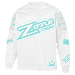 ZONE dres MONSTER white/light turquoise