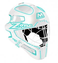 ZONE maska MONSTER CAT EYE CAGE white/light turquoise
