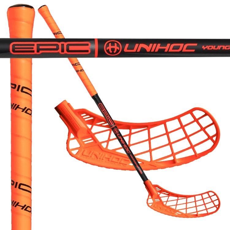 1742f1859 UNIHOC EPIC Youngster 36 neon orange/black 75 - FLORBAL OBCHOD