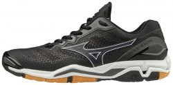 MIZUNO Wave Stealth V Black/White/Dark Shadow