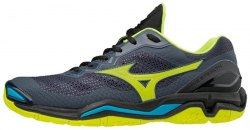 MIZUNO Wave Stealth V Blue/Yellow