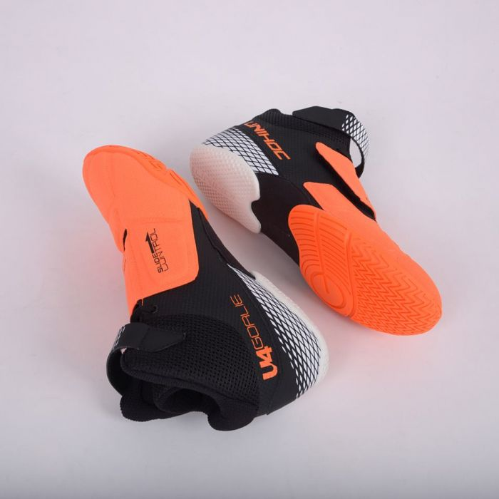 UNIHOC brankářské boty U4 Goalie Neon orange Black e0194ccdb8